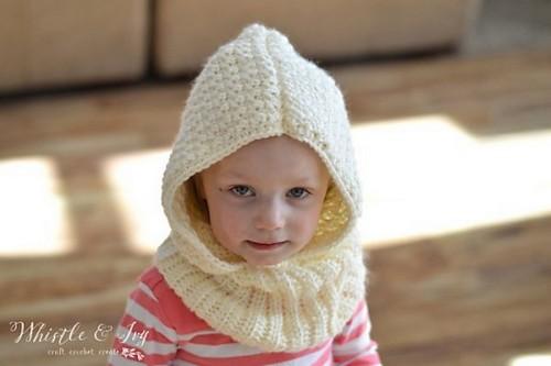 Crochet Toddler Hooded Cowl