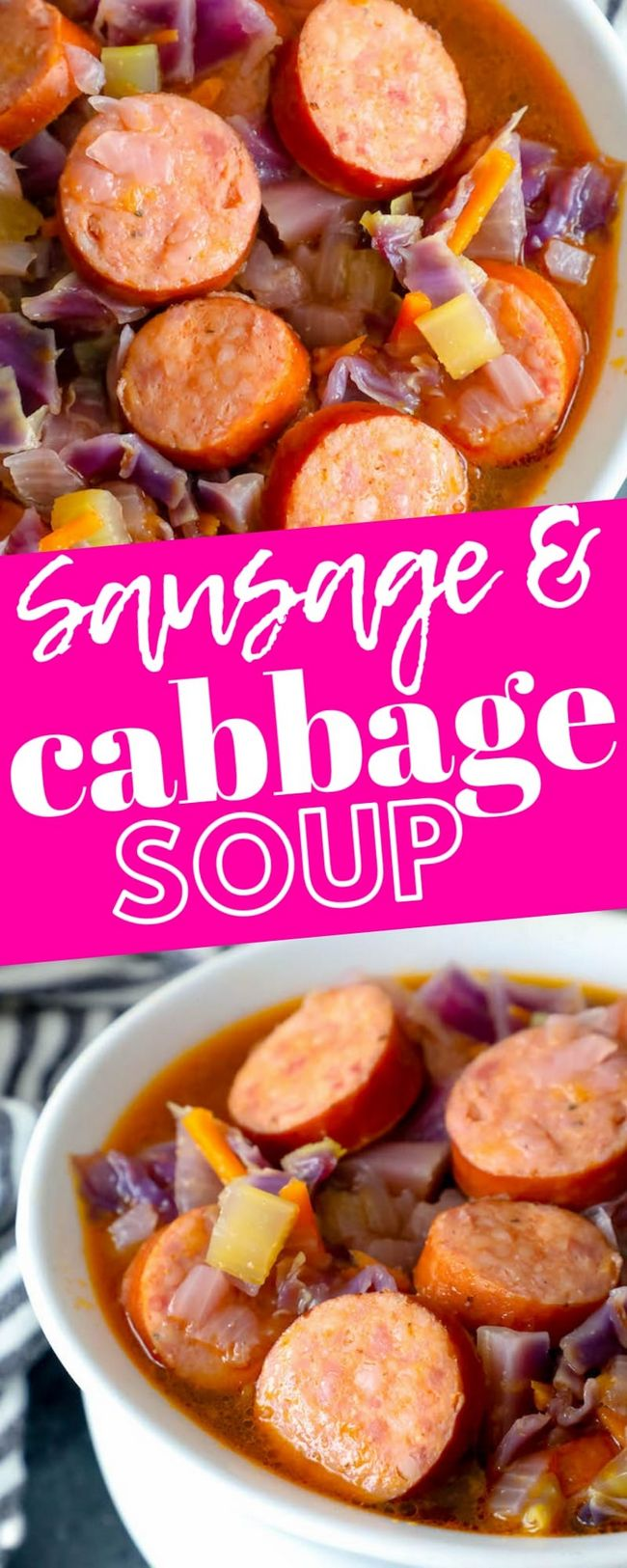 Easy Cabbage And Sausage Soup Recipe