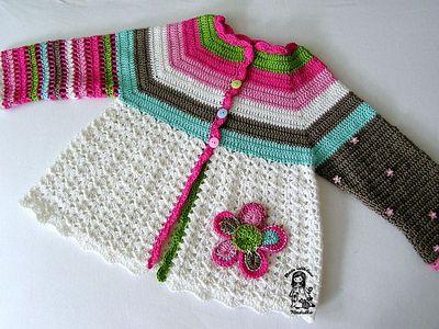 Flower Crochet Cardigan Pattern