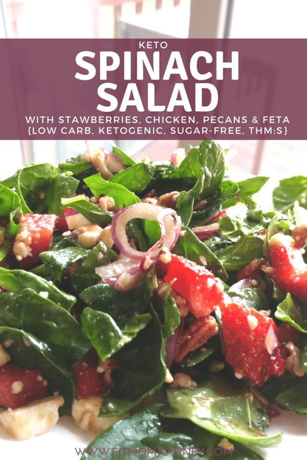 Keto Spinach Salad with Strawberries