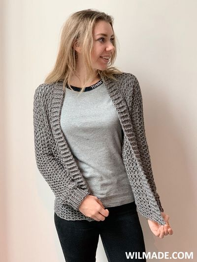 Touch Of Merino Cardigan Pattern