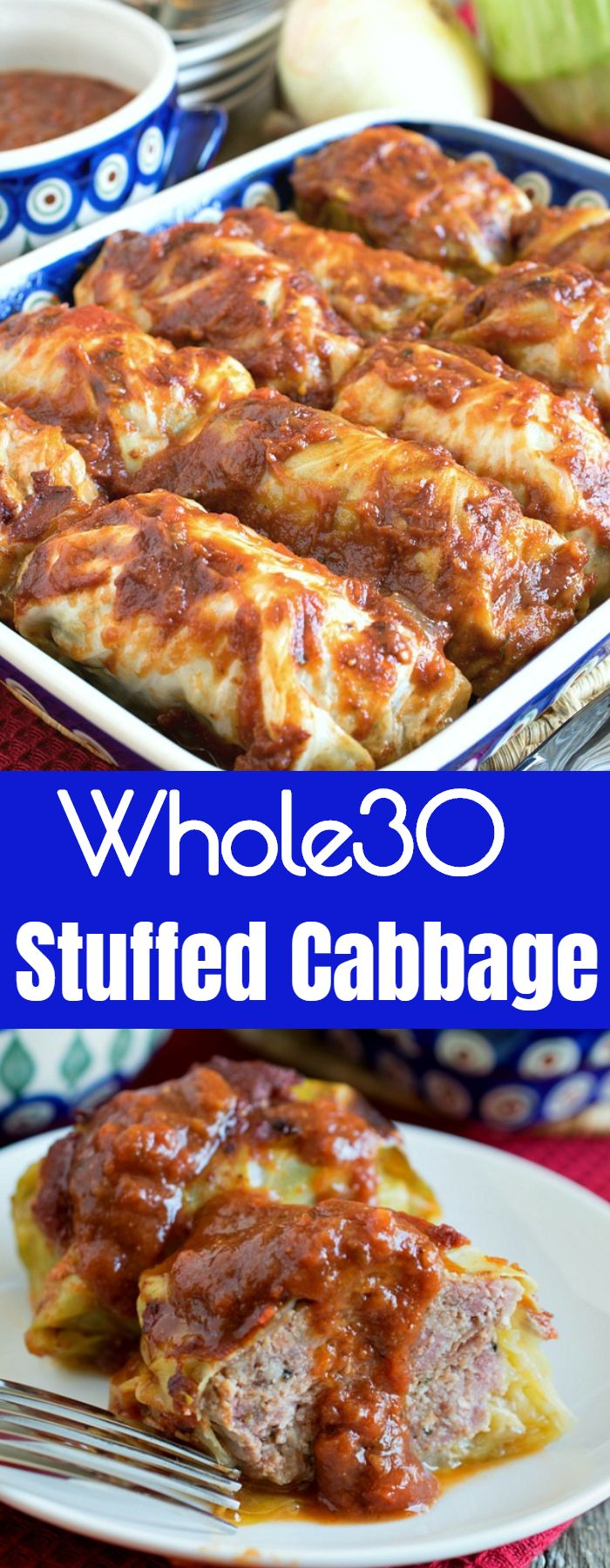 Whole30 Stuffed Cabbage
