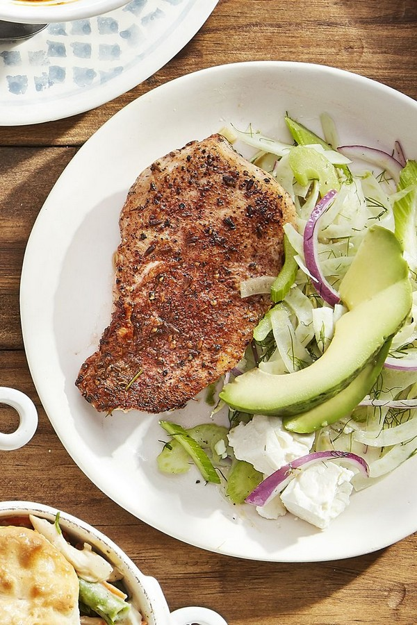 Blackened Chicken With Fennel Slaw