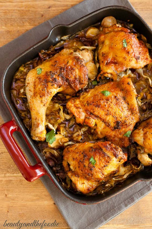 Chicken Bacon Cabbage Skillet