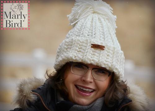 Crochet Snowboarder Chunky Hat