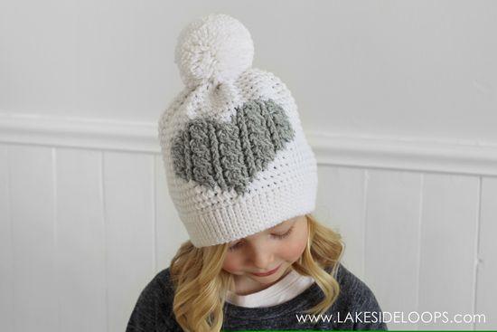 Henley Crochet Cable Heart Hat – Free Pattern
