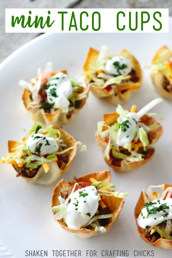 Mini Taco Cups A Quick & Easy Appetizer