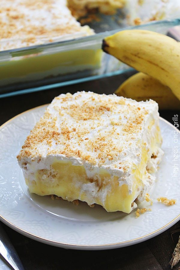 No Bake Banana Pudding Layer Dessert