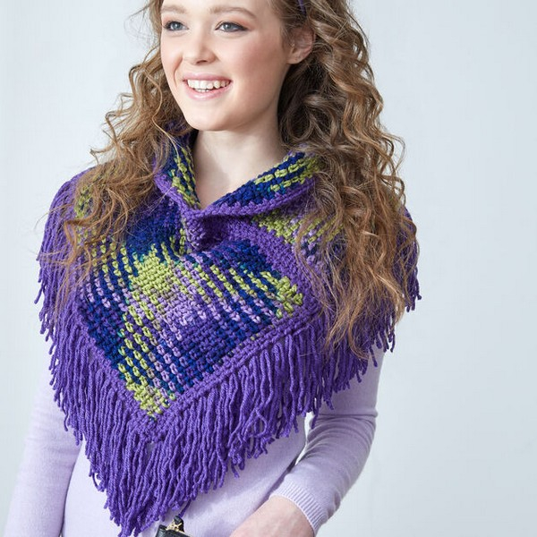 Planned Pooling Argyle Cowl