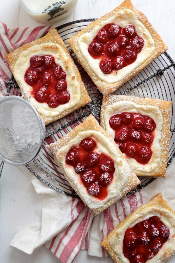 Quick And Easy Cherry Cream Cheese Danishes