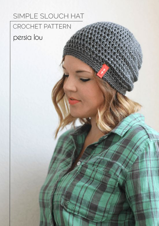 Simple Slouchy Crochet Hat For Beginners