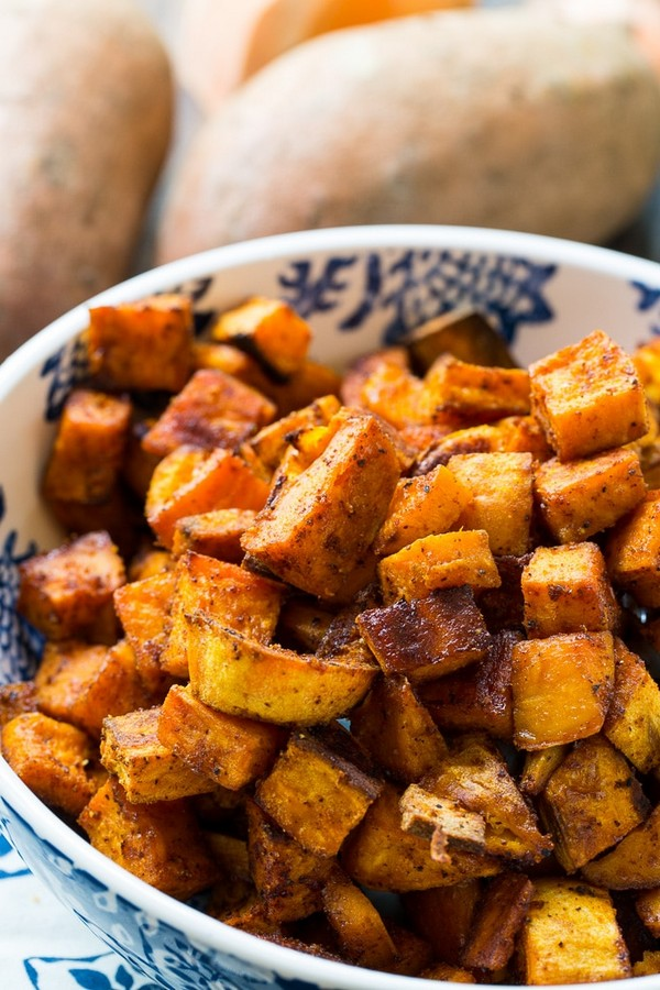 Spicy-Sweet Roasted Sweet Potatoes