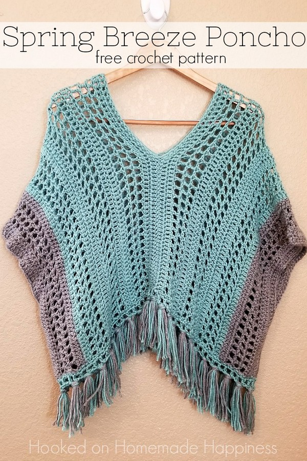 Spring Breeze Crochet Poncho