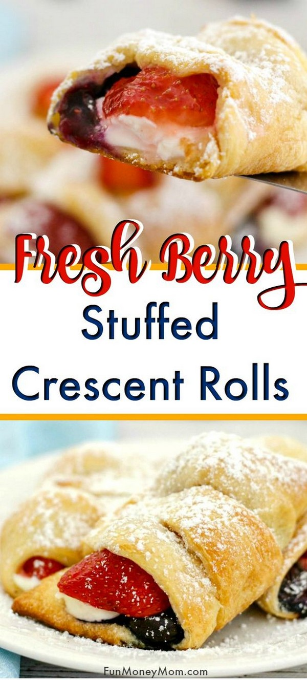 Stuffed Crescent Rolls With Cheese And Berries Recipe