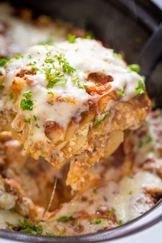 Yummy Slow Cooker Lasagna Recipe