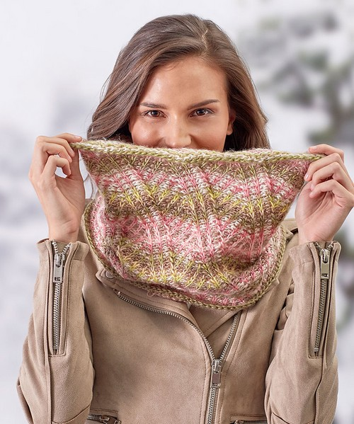Crochet Breathtaking Brioche Cowl