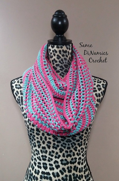 Crochet Candy Stripes Cowl