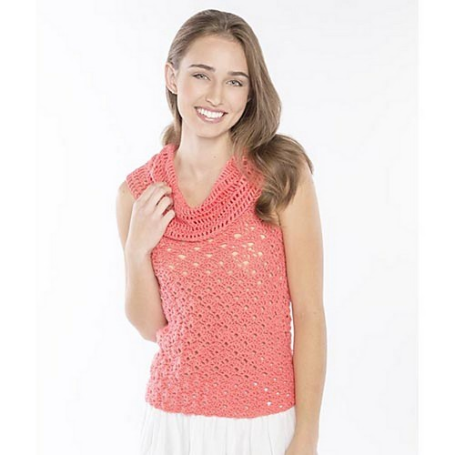 Crochet Cowl Neck Tank