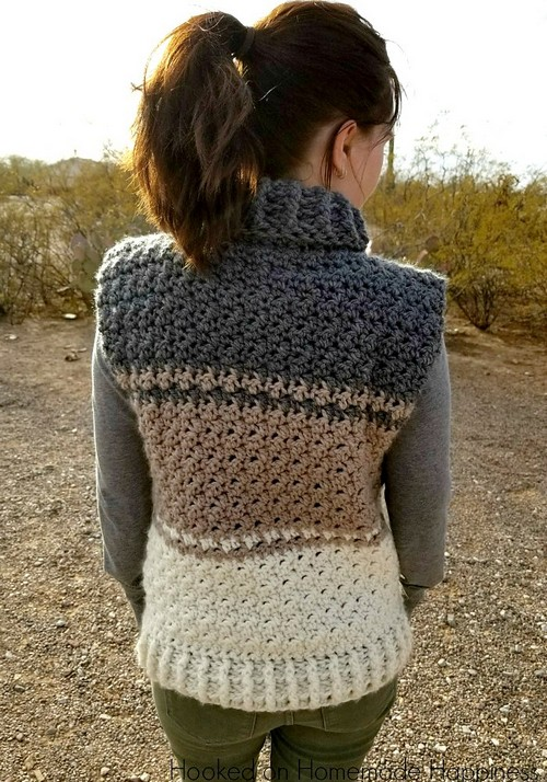 Crochet Cowl Sweater Vest