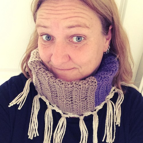 Crochet Cowl With Fringes