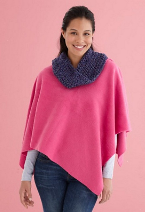 Crochet Cozy Poncho With Cowl