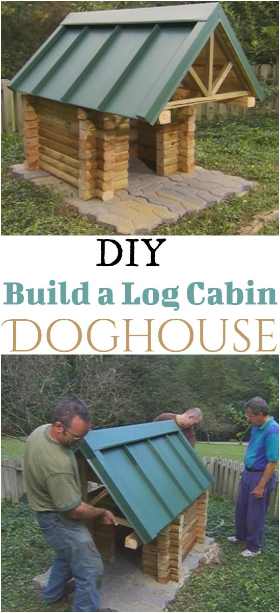 Build a Log Cabin Doghouse