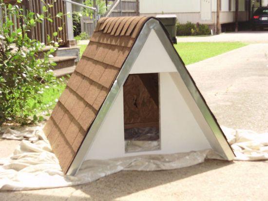 Build an Insulated A-Frame DIY Doghouse