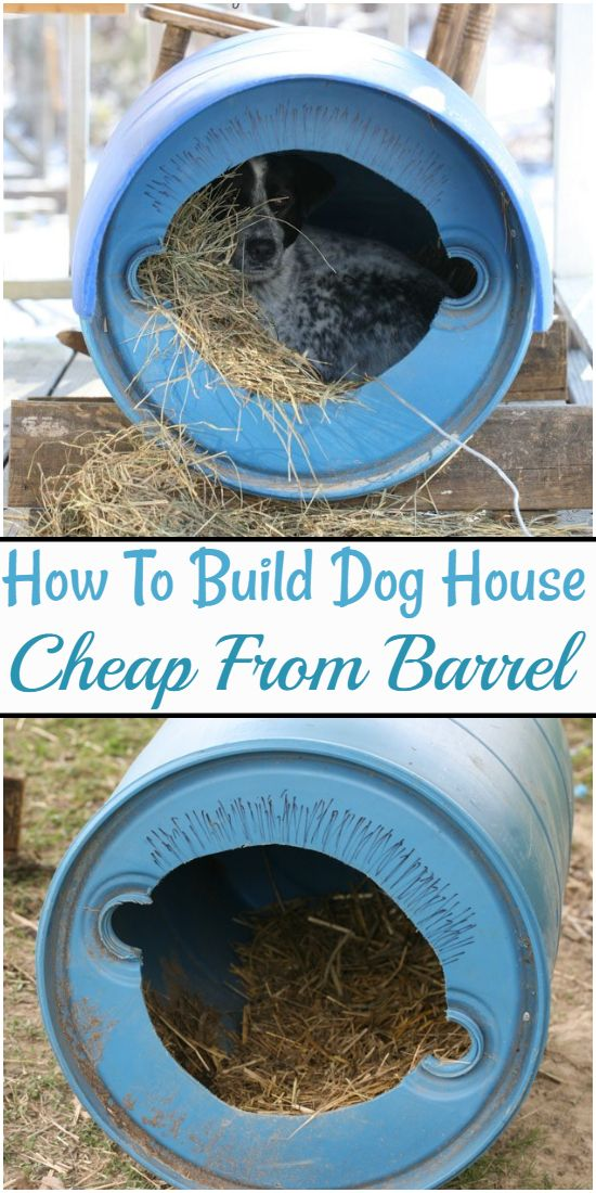 How To Build Dog House Cheap From Barrel