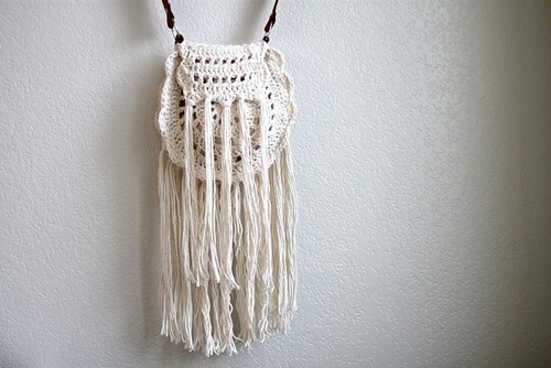 Crochet Boho Tassel Bag
