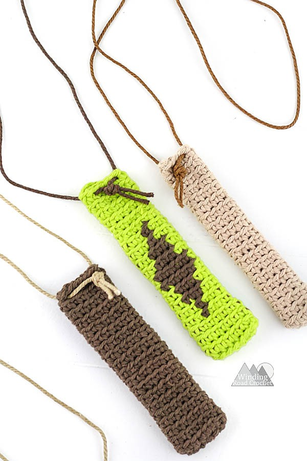 Crochet Hook Pouch Necklace