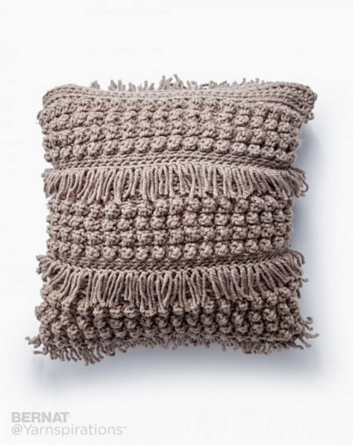 Crochet Tassel And Texture Pillow