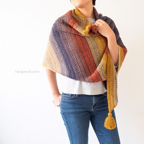 Crochet Tassel The Adirondack Wrap