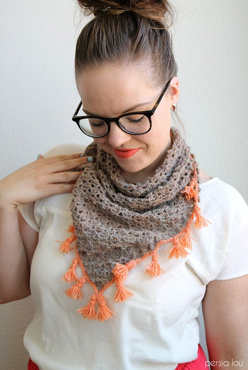 Crochet Tasseled Crochet Neckerchief