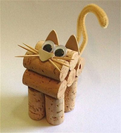 Cute Cork Kitten Using DIY Wine Cork Craft