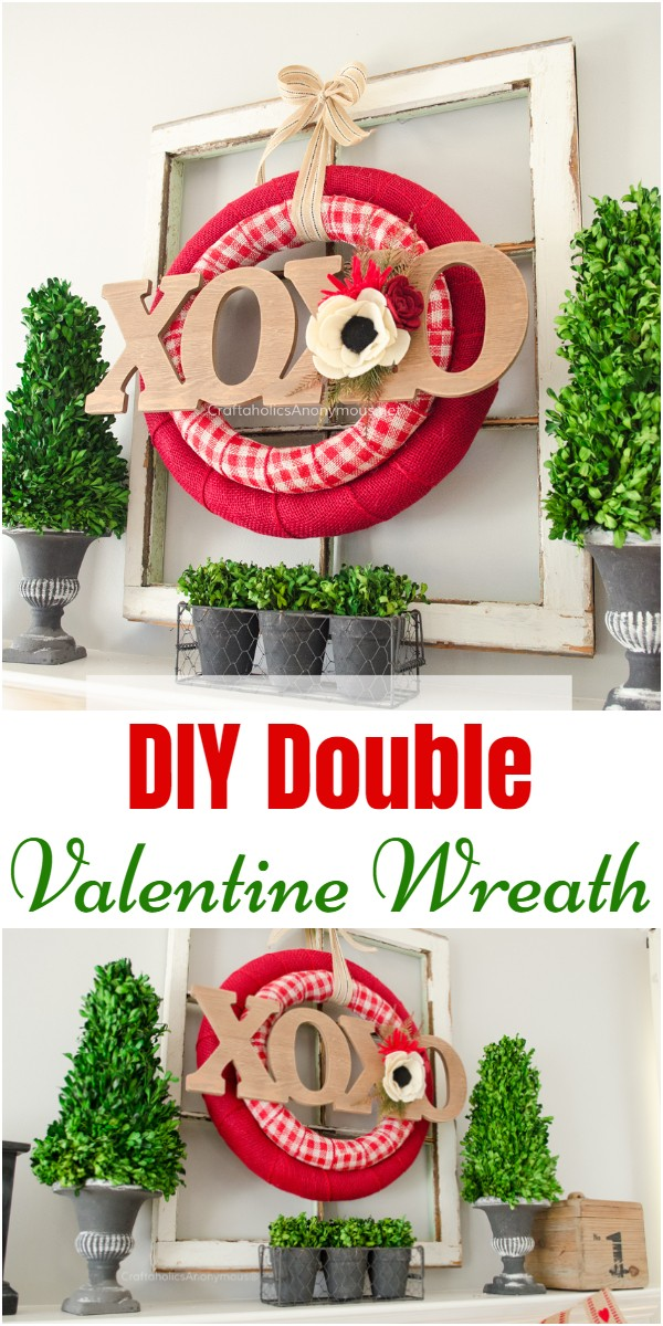 DIY Double Valentine Wreath