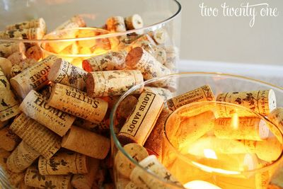 DIY Wine Cork Candle Holder Idea
