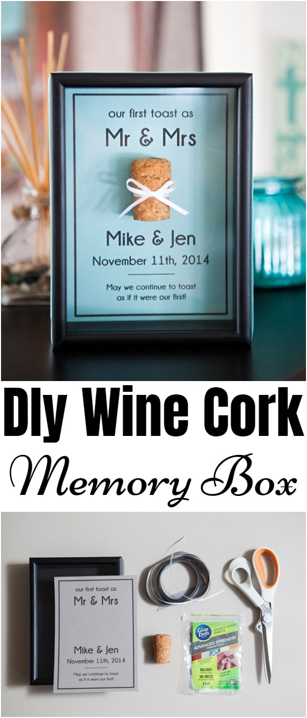 DIY Wine Cork Memory Box