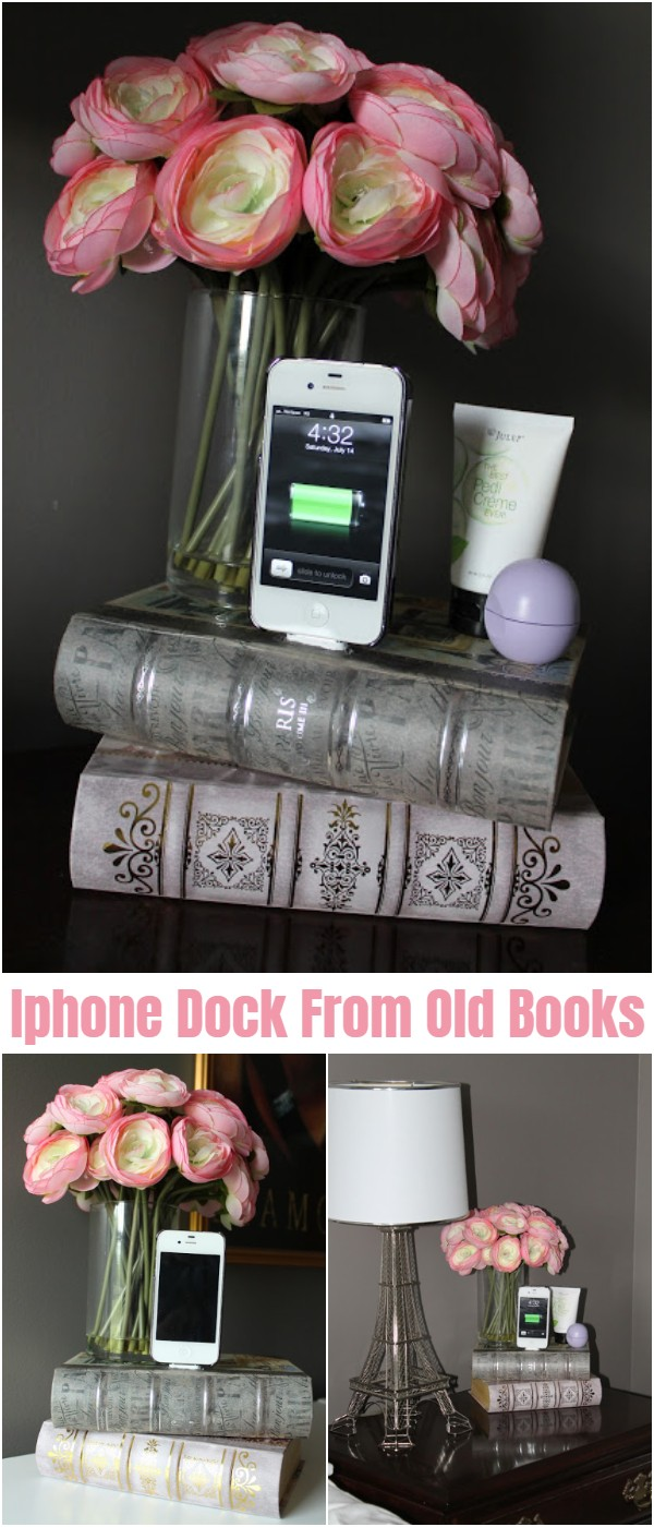 Iphone Dock From Old Books