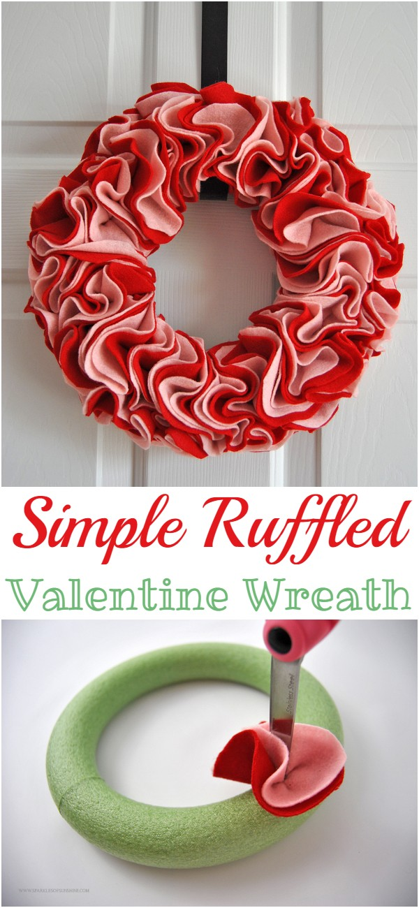 Simple Ruffled Valentine Wreath