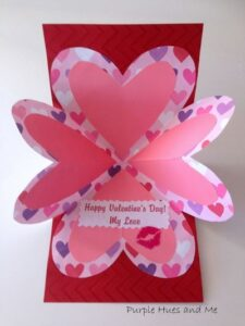 DIY Folding Pop Up Valentine Card Craft Idea