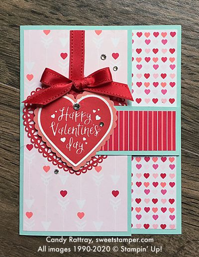 DIY Fun Fold Valentine Card With Heartfelt Bundle