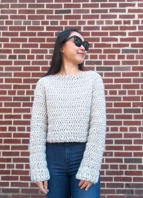Crochet Brooklyn Chunky Sweater