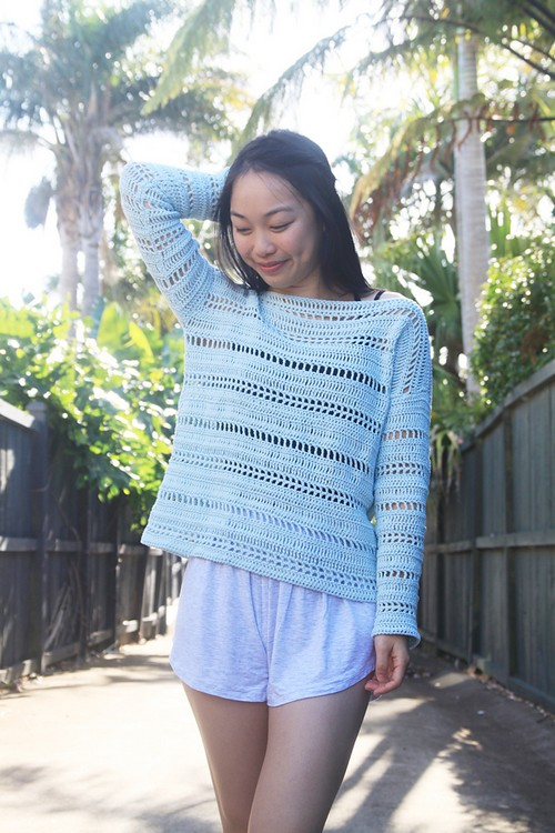 Crochet Coastal Shores Sweater