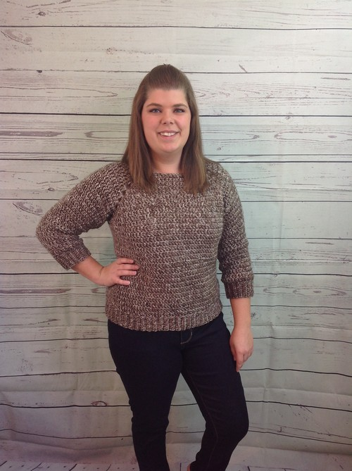 Crochet Easy Peasy Raglan Sweater