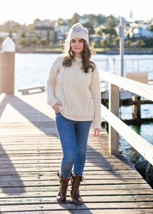 Crochet Meara Fisherman Sweater