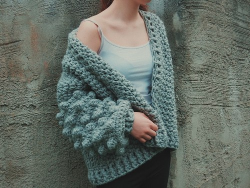 Crochet Oversized Bobble Sweater