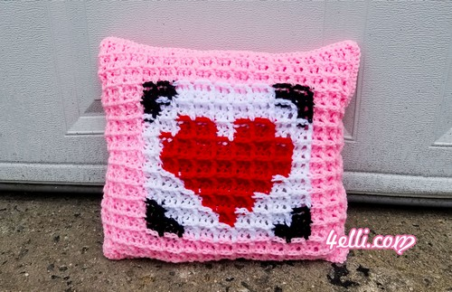 Crochet Pillow For Valentine's Day