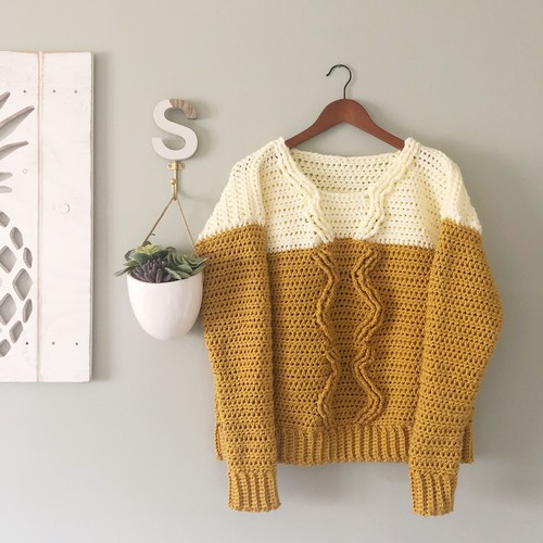 Crochet Pineapple Crown Sweater