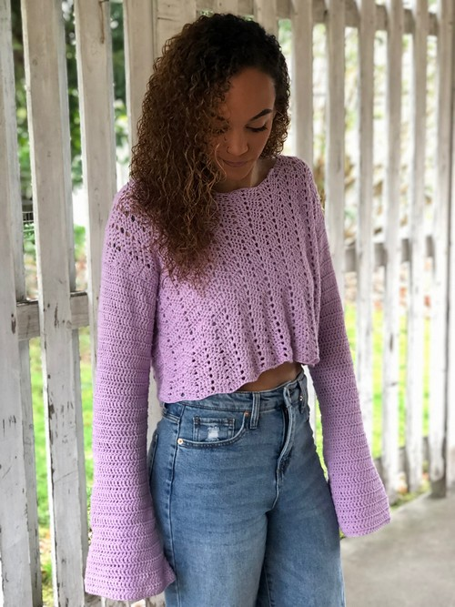 Crochet The Willow Crop Sweater