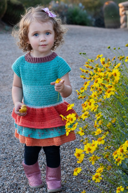 Crochet Toddler Ruffle Sweater